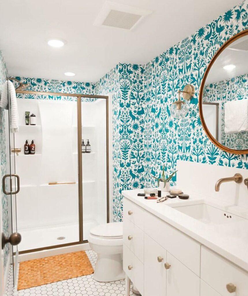 example of bathroom remodel wallpaper