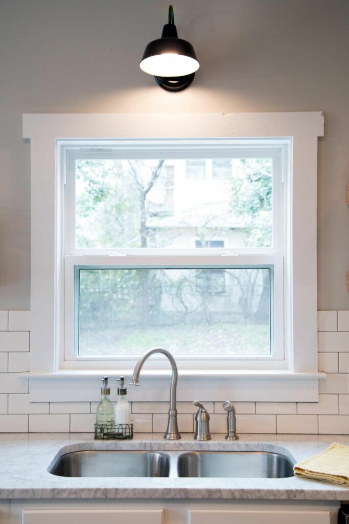 example of double hung window