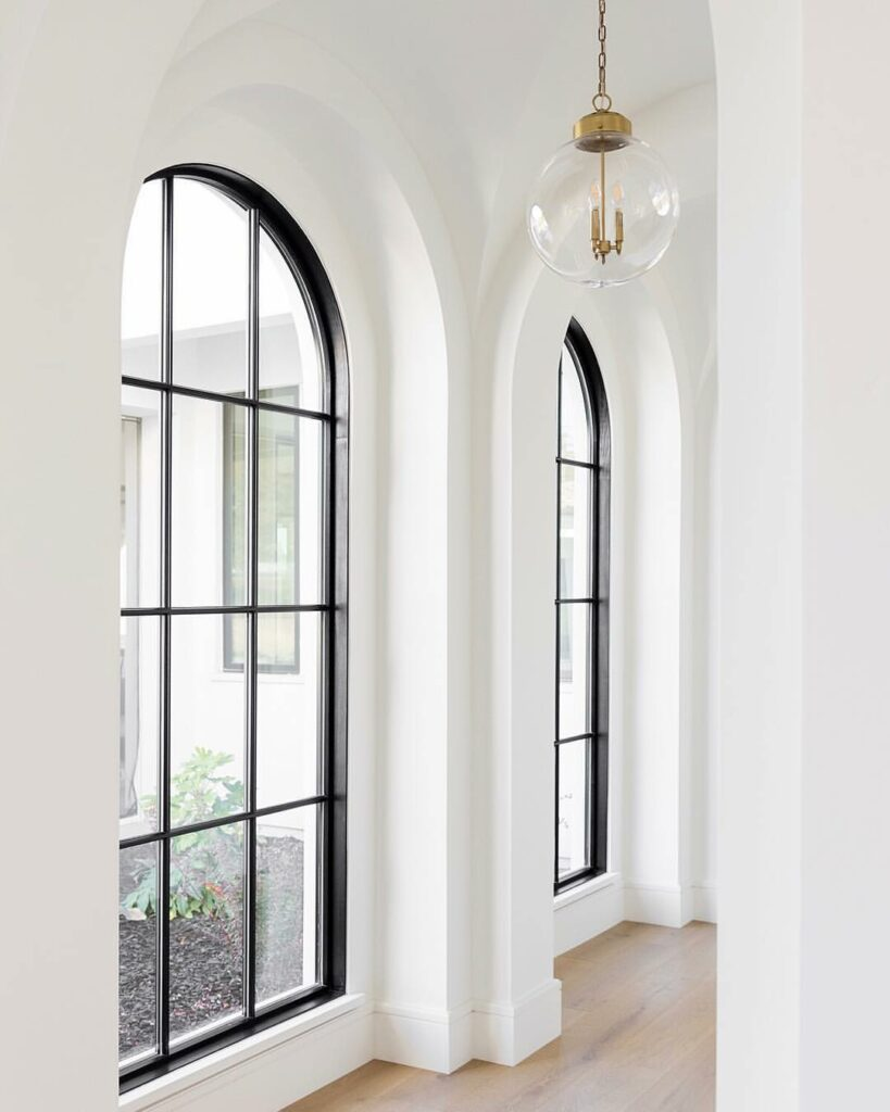example of arched windows
