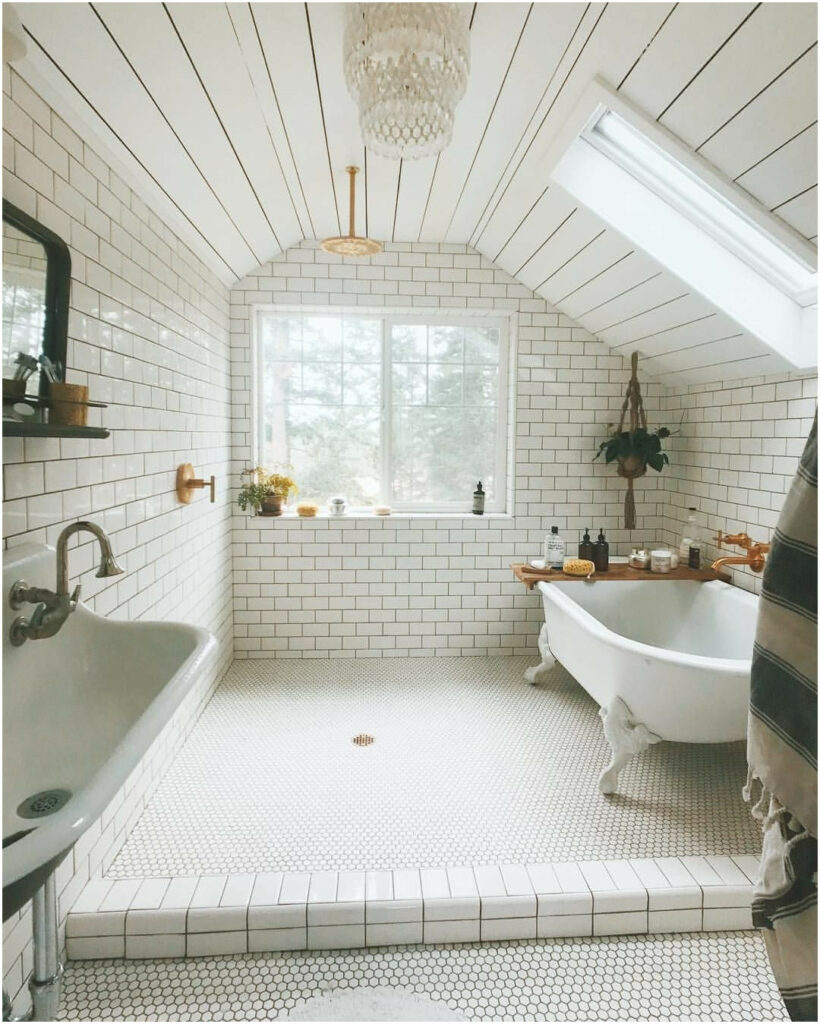 example of bright traditional bathroom remodel