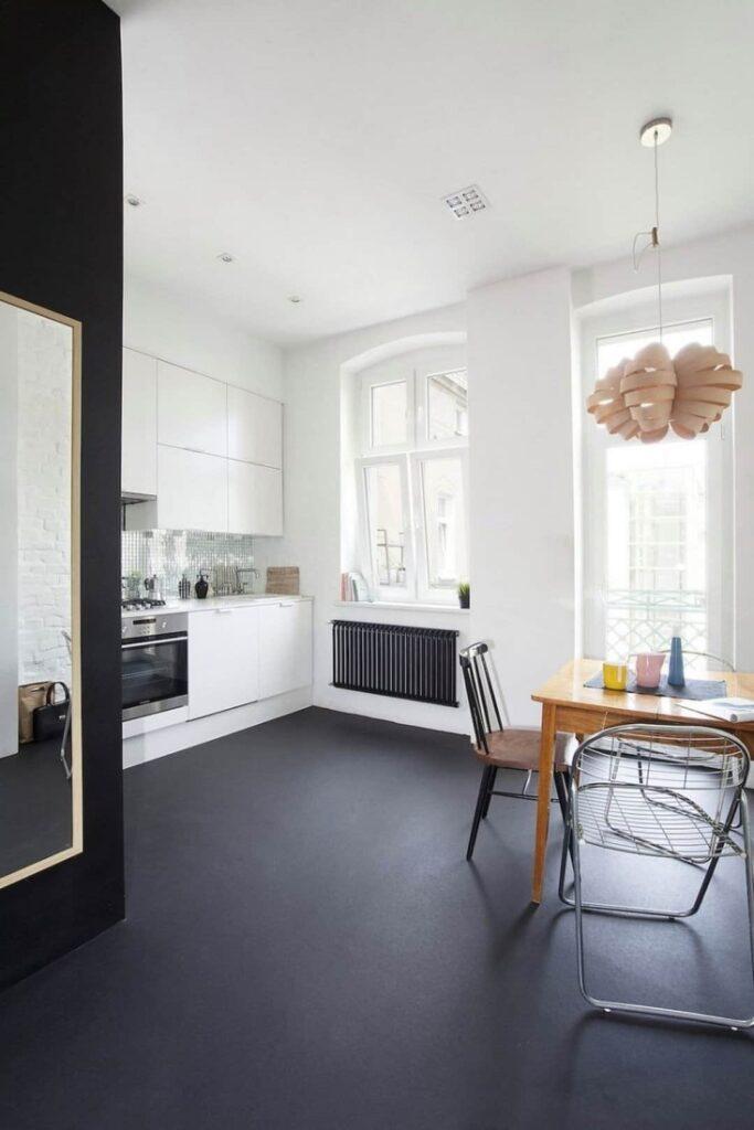 example of linoleum flooring for kitchen remodel