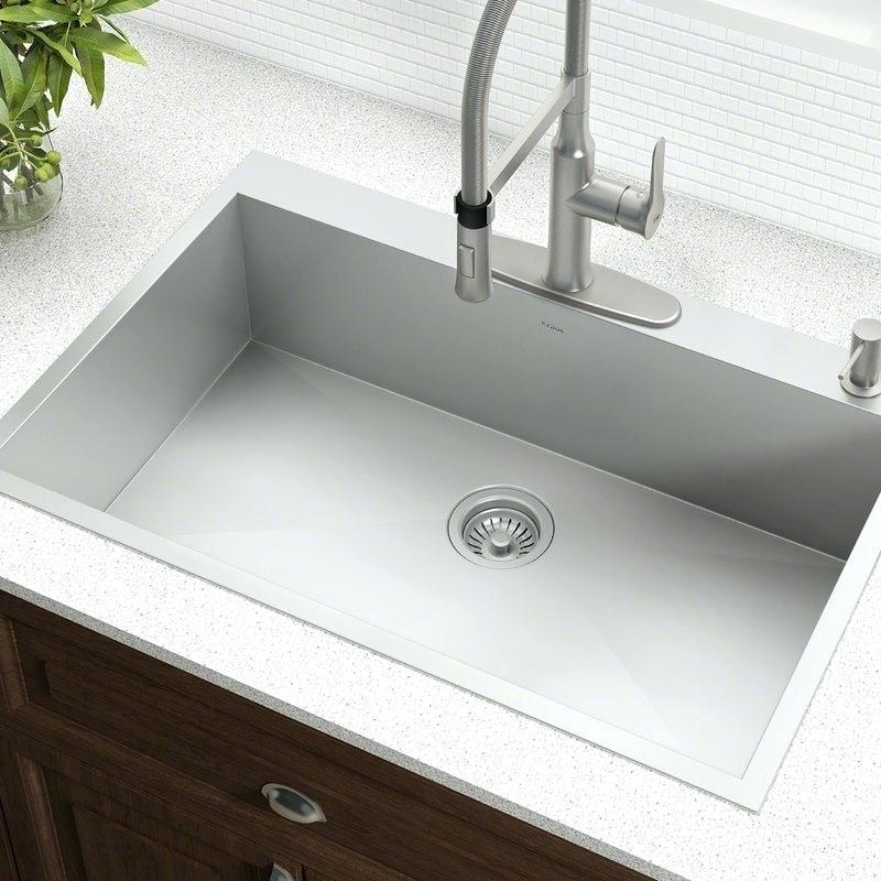 example of drop in topmount sink