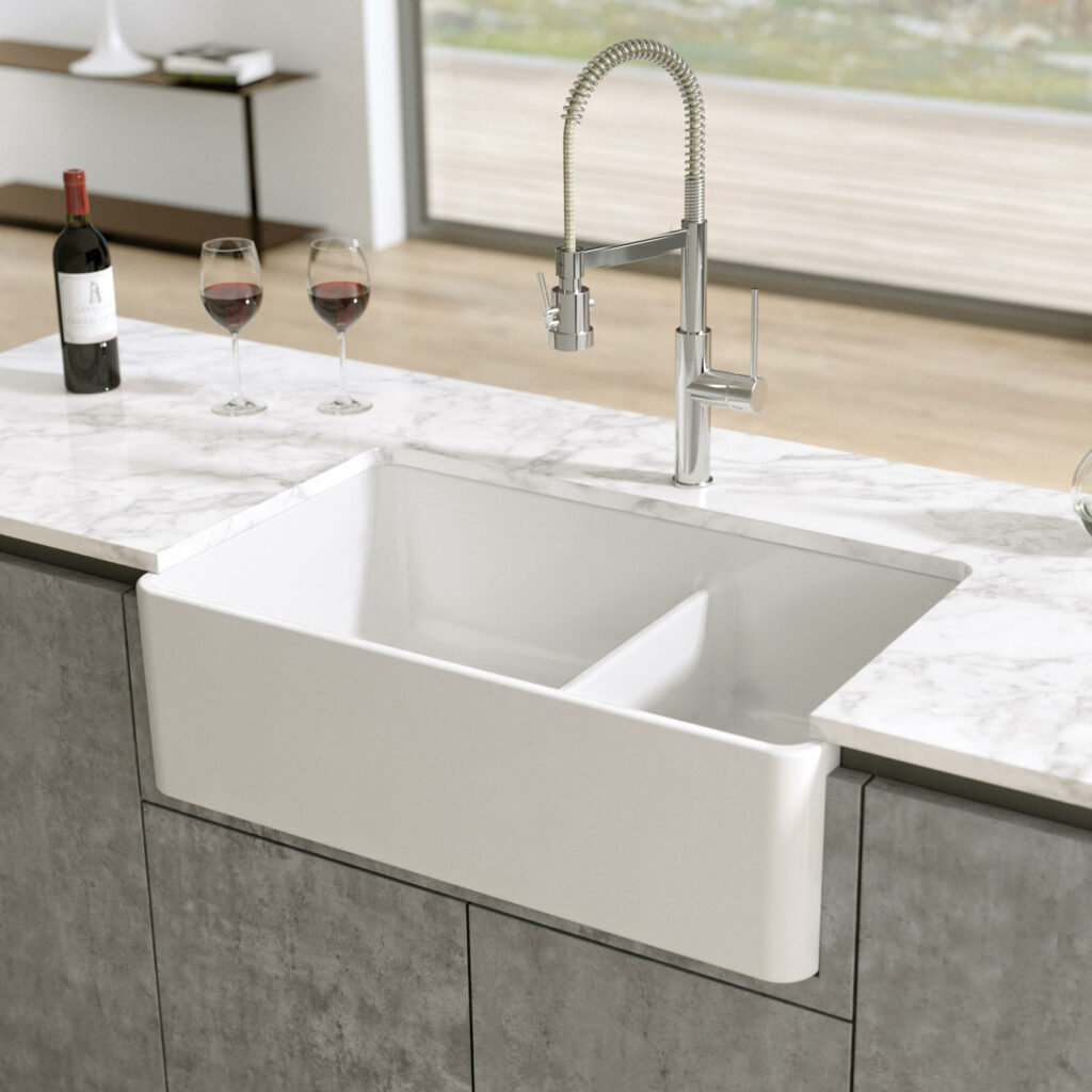 example of fireclay sink