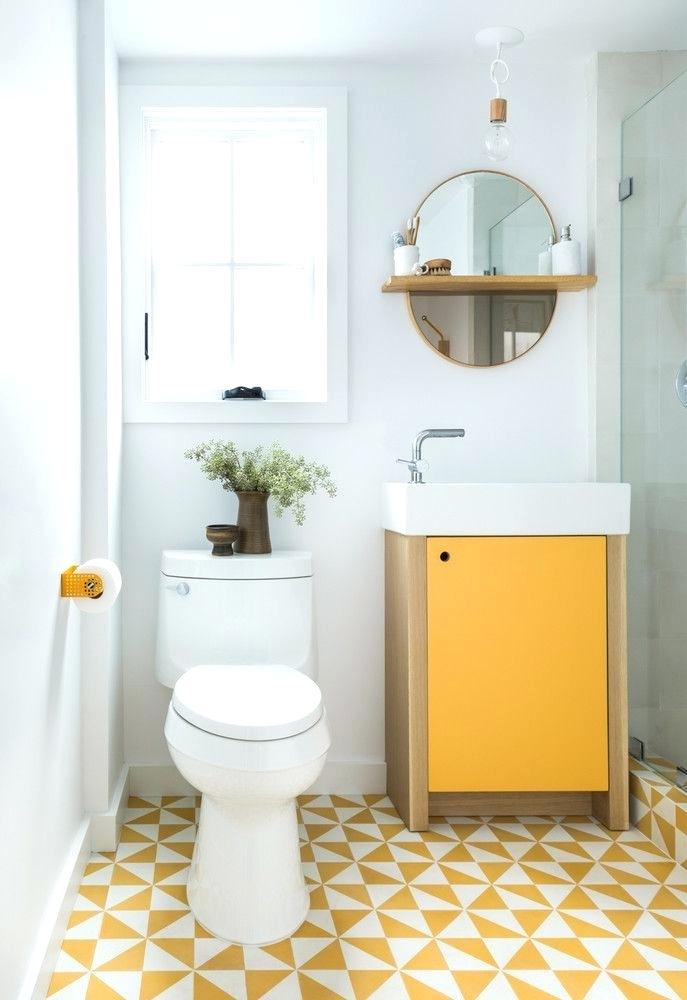 example of yellow bathroom remodel