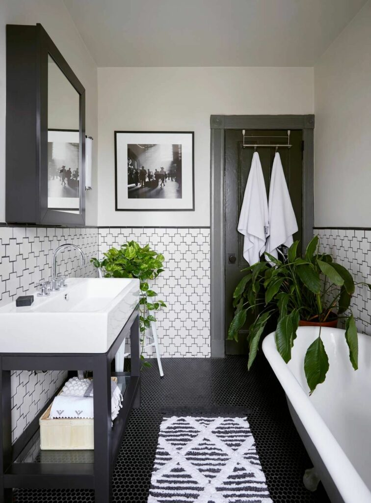 example of neutral tone bathroom remodel