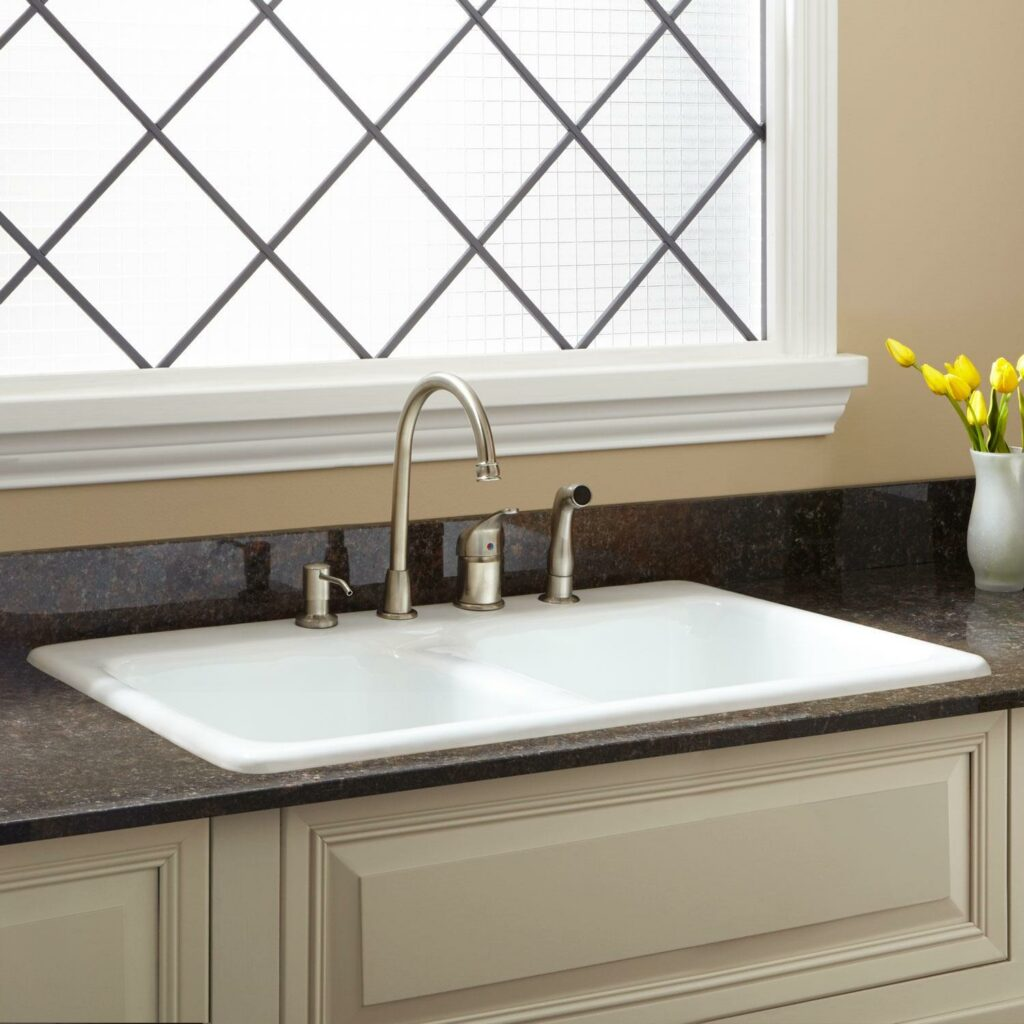 example of cast iron sink