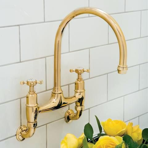 example of wall mounted kitchen faucet