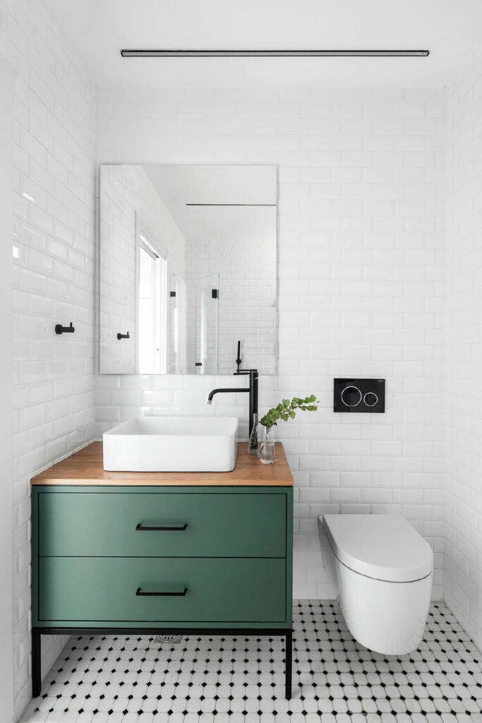 example of small vanity in bathroom remodel