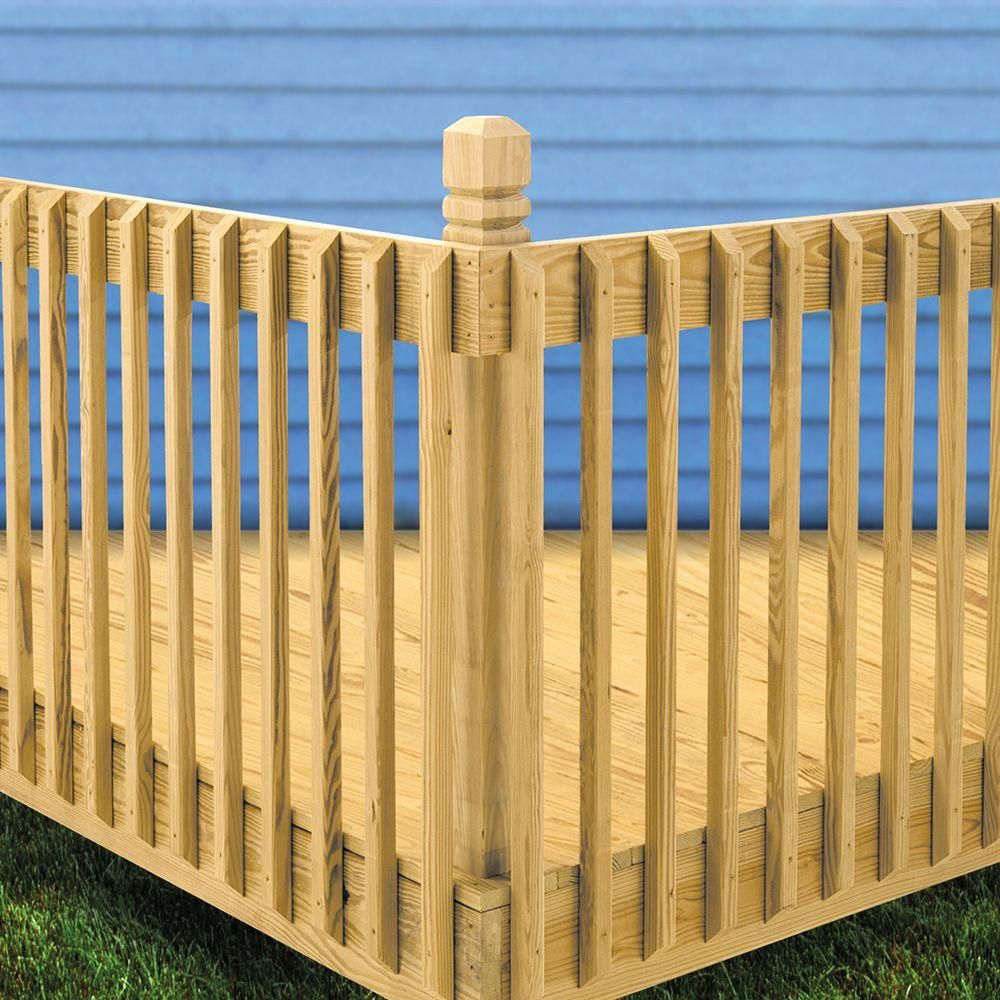 example of pressure treated wood decking