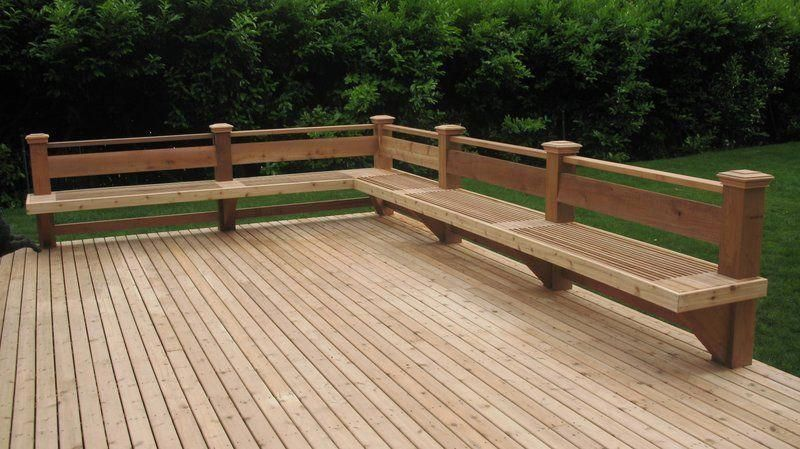 example of cedar decking