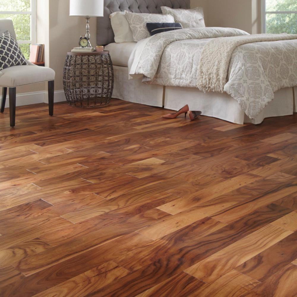 example of hardwood flooring in home remodel