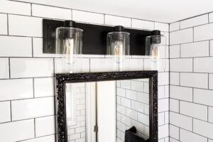 bathroom lighting subway tile beaverton oregon