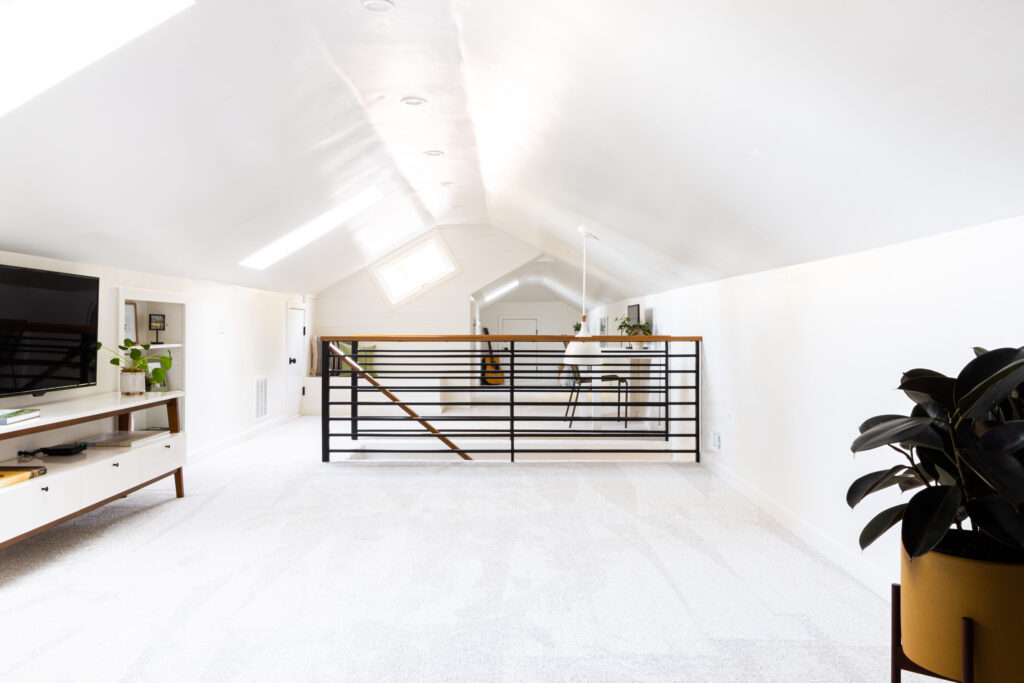 example of finished attic remodel in beaverton oregon