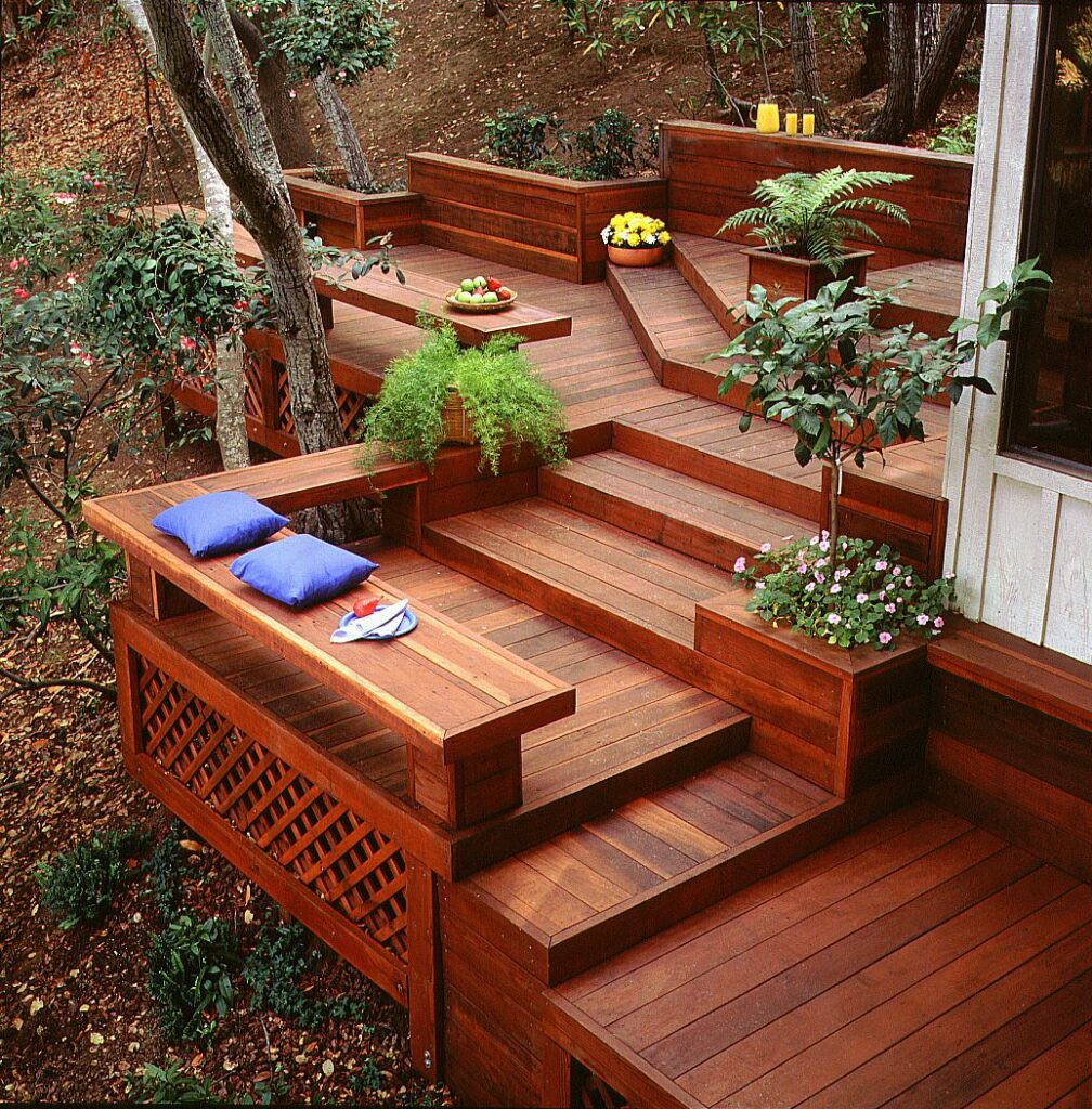 example of redwood deck