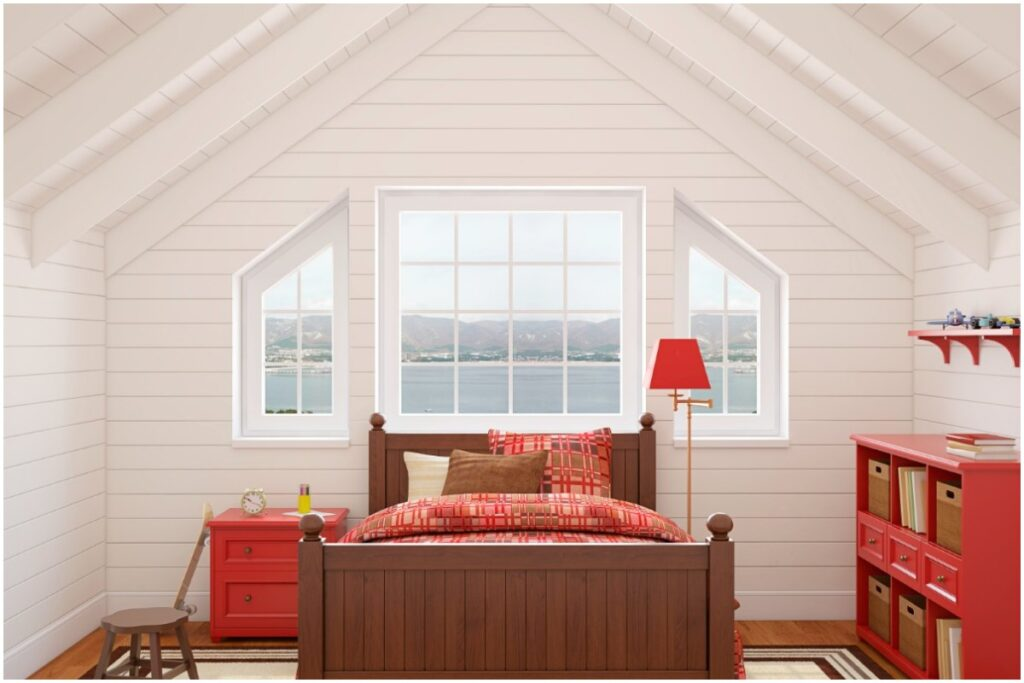 example of home attic remodel in beaverton