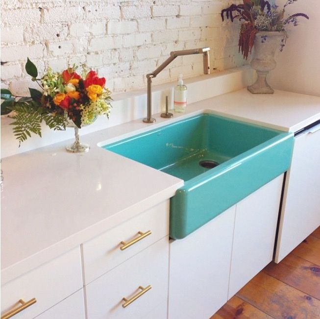 example of colored sink basin